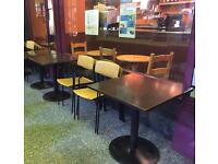 Heavy duty cafe/restaurant tables chairs