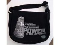 BBC Doctor Who DALEK Messenger Shoulder Bag ~ Black