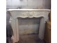 ORNATE FIREPLACE WITH ELECTRIC FIRE