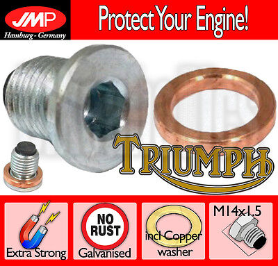 MAGNETIC OIL SUMP BOLT WITH COPPER WASHER  TRIUMPH TRIDENT 900   1993