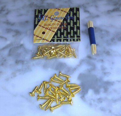 Gold Pickguard Screws Fender Stratocaster Tele Bass Set of 22  Buy 2 Get 1 Free! Fender Tele Pickguards