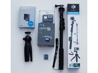 GoPro Hero5 Bundle - from John Lewis - 1 year and 7 months warranty left