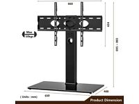 """Universal TV Stand for 40-80"""" TVs Base Pedestal with Mount Bracket Swivel"""