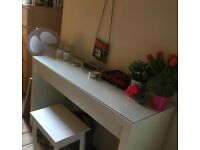 Ikea Malm Dressing Table + Stool