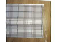 Roman Blinds x4 Grey Dove Check