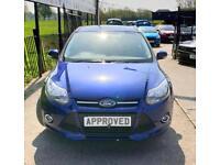 FORD FOCUS 1.6 ZETEC 5d AUTO 124 BHP (blue) 2014
