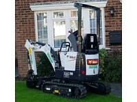 Plant hire. Micro, mini, midi diggers and dumpers