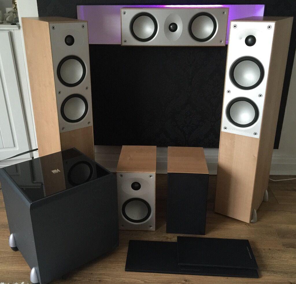 kef psw2000. mordaunt short 902i 905i 906 and kef psw 2000 subwoofer home cinema 5.1 speakers kef psw2000