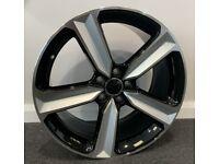 "19"" x8.5 2020 RS4 STYLE ALLOY WHEELS AND TYRES (5x112 et40) Blk/pol.. Suits Audi A3,A4 VW,SEAT ETC"