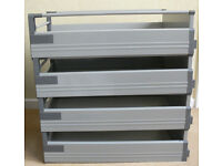 Ikea Rationell Deep Fully Extending Complete Drawers and Runners x 4 for 40cm Units, Immacula