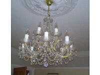 Beautiful Crystal Chandelier with attachment to ceiling rose