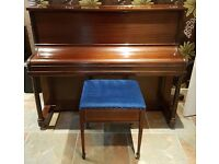 """Lovely Piano with Crest inside of """"By Royal Command of his Majesty The King Of Spain""""."""