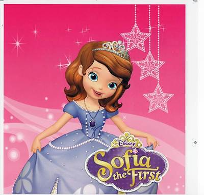 2 X IRON ON Transfer Sofia The Frist Cartoon 20 X 21  - Sofia The Frist