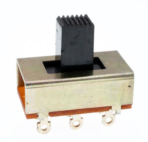 25 Pcs On/Off/On 3 Position DPDT 2P3T PCB Panel Slide Switch, NOS