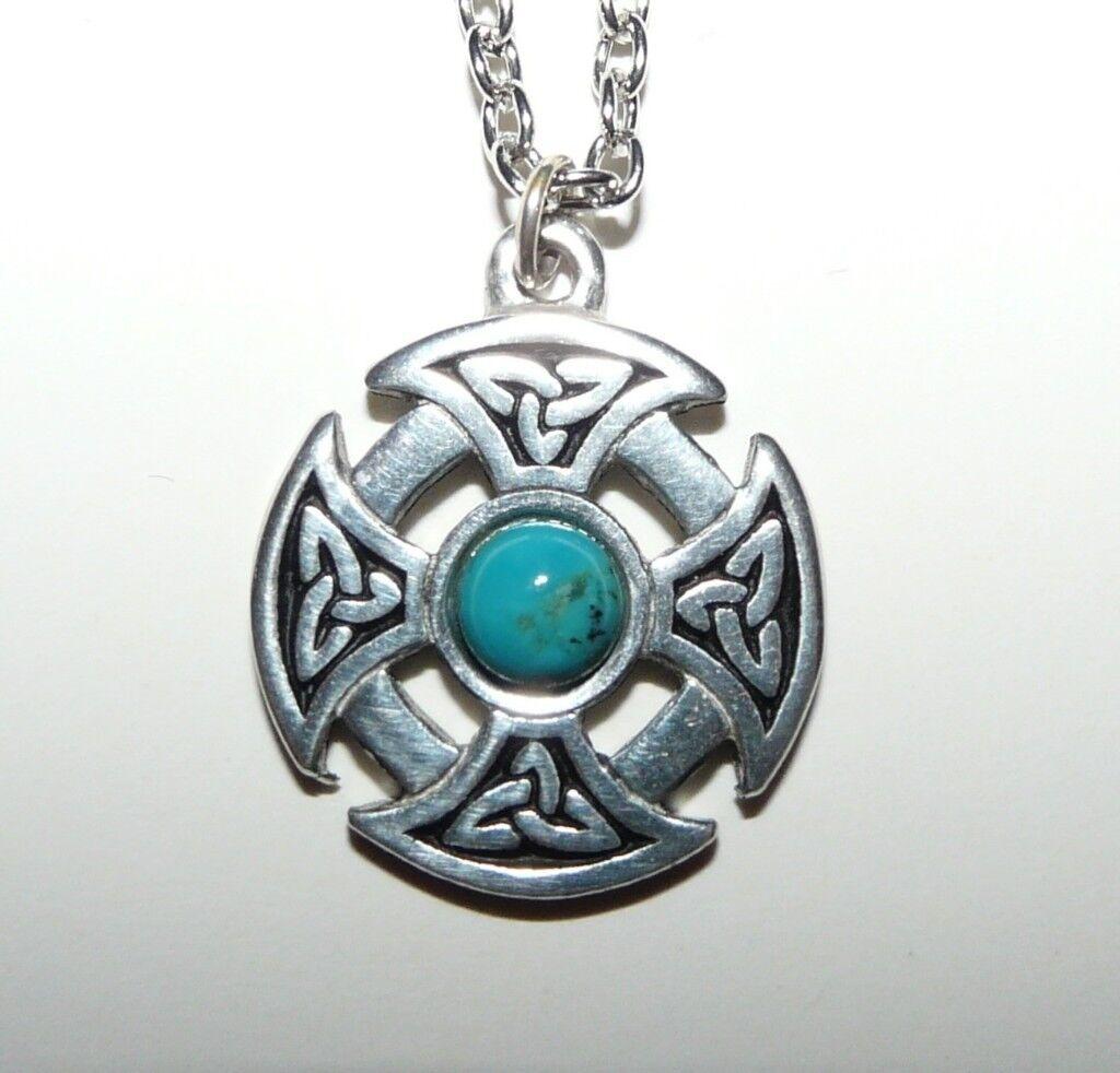 St justin turquoise and silver celtic pendant in maldon essex st justin turquoise and silver celtic pendant aloadofball Choice Image
