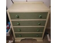 Painted chest of drawers, good project