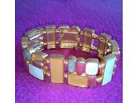 Beautiful color stone gold bracelet