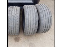 Part worn tyres 285 40 22 and 285 35 22