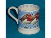 Mug - Emma Bridgewater - Robin in a Snowstorm - New - Collect NR2