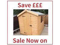 6x4 apex garden shed all sizes out of season sale free installation