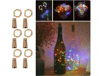Wine Bottles String Lights, FairyDecor 6 Packs Micro Artificial Cork Copper Wire Starry Fairy Lights