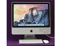 """2.4Ghz CORE 2 DUO 20"""" APPLE iMac 6GB 1TB HD MS OFFICE 2016 VECTORWORKS CAPTURE ONE FINAL CUT PRO"""