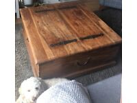 Martin and Frost Coffee Table with Storage - Vintage Style