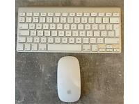 Apple keyboard and mouse.