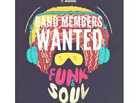 Funk and Soul band looking for new members.