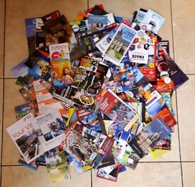 100s of leaflets/flyers of tourist attractions in Europe & UK (2 available)