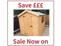 6x4 £289.00 Apex High Quality Garden Sheds ALL SIZES AVAILABLE (FREE DELIVERY & FREE INSTAL)