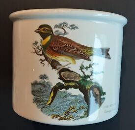 PORTMEIRION BIRDS OF BRITAIN CIRL BUNTING LARGER PLANTER 1ST BACK STAMP