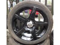 Vauxhall Penta 4 Stud Alloys fully refurbished in Black.