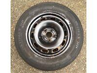 VW Golf Mk4 Spare Wheel & Tyre 195/65 15