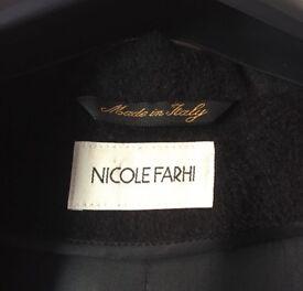 Nicole Farhi Ladies Woollen Coat Size 10