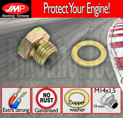 JMP MAGNETIC OIL DRAIN PLUG   M14X15  WASHER FOR TRIUMPH STREET TRIP
