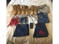 Job lots mixed branded clothes, boots, trainers & Smartphone