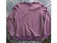 Lyle & Scott Jumper in Purple Size M - £10