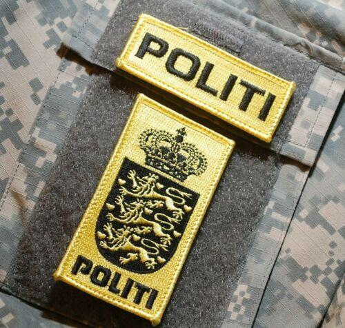 FANCY DRESS PARTY COSTUME Denmark Police Dansk Danmark POLITI velkrö 2-Patch Set