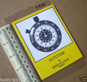 1970s Breitling Autotime Car Dashboard Stopwatch Timer Instruction Booklet