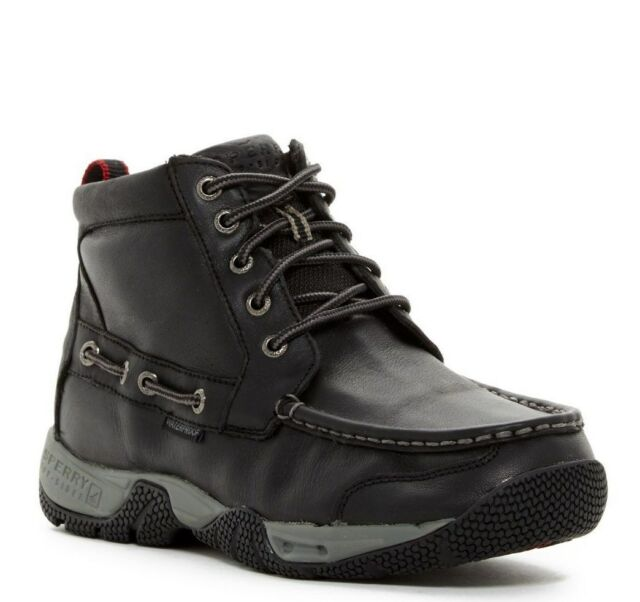 Sperry Top-sider Boatyard Chukka Insulated Black Leather ...