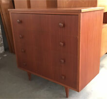 Mid Century chest of drawers tallboy Hans Borg retro vintage Myaree Melville Area Preview
