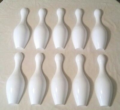 Williams & United Coin Operated Shuffle Alley Bowler Bowling Pin Set Of 10 New!