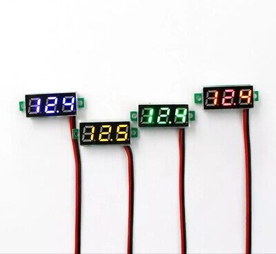 Led Digital Display Voltmeter Car Motorcycle Voltage Gauge Panel Meter 5v To 30v