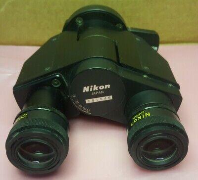Nikon Microphot Fx Binocular Head Tube - Cfw10x Eyepieces Shutter Blank Slider