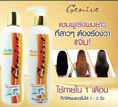 ิฺGenive Set Long Hair Shampoo and Conditioner Fast Growth Longer Best