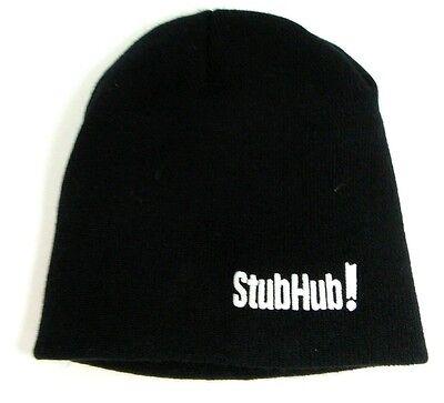 Stubhub Black Beanie   Ski Hat   One Size Fits Most   Stub Hub