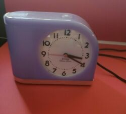 Westclox 43009 Moon Beam Big Ben Alarm Clock Purple Lighted Glow