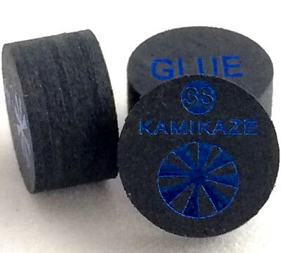 Kamikaze Black Layered Cue Tips  14 MM  (Super Soft) (3 Tips)  Fast Shipping....