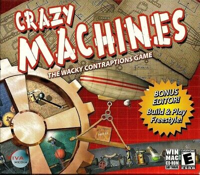 Computer Games - Crazy Machines PC Games Windows 10 8 7 XP Computer puzzle brain teasers